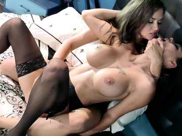 Passionate lesbo sluts Allie Haze and Peta Jensen having fun