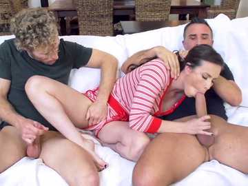 Slender cutie Casey Calvert slobbers on thick prick of Keiran Lee
