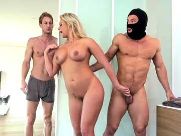Cheating blonde spouse Phoenix Marie is banged by huge-dicked burglar