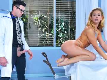 Curly blonde Cherie Deville gets under the influence of big-dicked physician